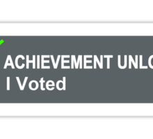 Achievement Unlocked I Voted Sticker