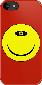 Smiley Cyclops Face by Paul Gitto