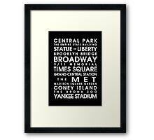 New York City Roll Framed Print