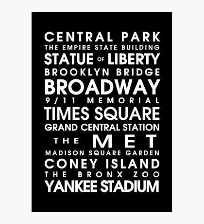 New York City Roll Photographic Print