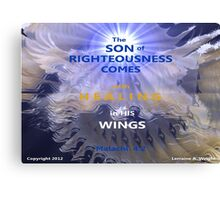 WHOLENESS COMES IN HIS LOVE Canvas Print