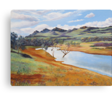 The Dam at Rawnsley Park!, Flinders Ranges. South Australia. Canvas Print