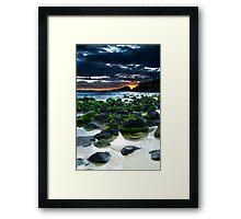 fingal sunrise HDR  Framed Print