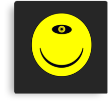 Smiley Cyclops Face Canvas Print