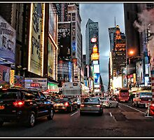 Nighttime in Manhattan by Mikell Herrick