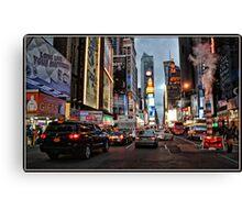 Nighttime in Manhattan Canvas Print