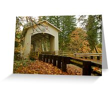 Bridge Over Linn County Greeting Card