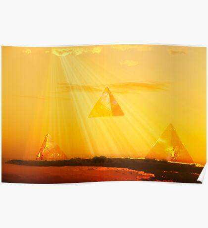 Pyramids in the Sky Poster