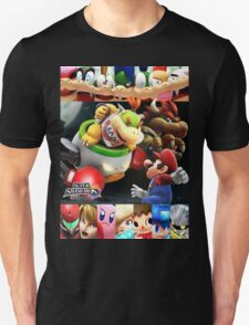 Mario Pretends to Act Scared to Make Bowser Feel Like a Good Father. T-Shirt