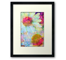 Blooms Through The Looking Glass Framed Print