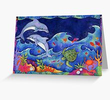 Dolphins Leaping Greeting Card