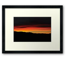Sunset - Blacks Creek ID Framed Print