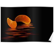 Black and Orange Poster