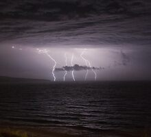 Sellicks Beach Lightning by Madelaine Bleckly