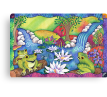 Frogs On Logs Canvas Print