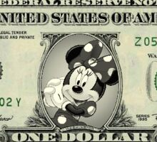 Minnie Mouse Dollar Sticker