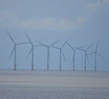Clacton Wind Turbines by Helen Greenwood