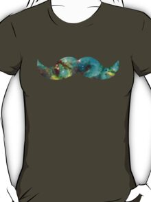 Green Galaxy Mustache T-Shirt