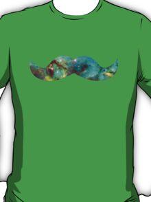 Green Galaxy Mustache T-Shirt