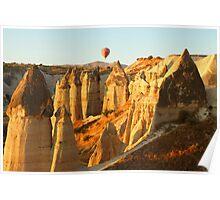 Hot Air Balloon at Sunrise Poster