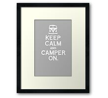 KEEP CALM Framed Print