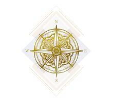 Golden Compass Photographic Print