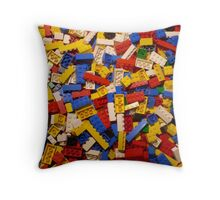 Lots of Lego Throw Pillow