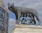 Statue of Romulus and Rhemus, Bucharest, Romania by Margaret  Hyde