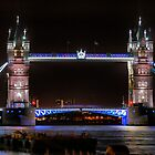 The Tower Bridge at Night  by Larry Davis