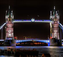 The Tower Bridge at Night  by Larry Lingard/Davis