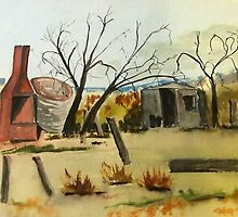 The Old Ruins - Pyalong Vic Australia by Margaret Morgan (Watkins)