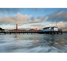 Old Coast Guard Station and Golden Gate  Photographic Print