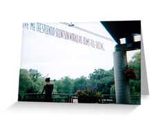 Manhattan faces and eyes forever for me. Greeting Card
