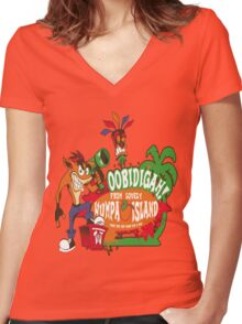 Welcome to Wumpa Island Women's Fitted V-Neck T-Shirt