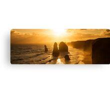 Backlit 12 Apostles golden sunset Canvas Print