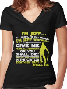 JEFF VADER Women's Fitted V-Neck T-Shirt