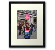 London to Brighton Veteran Car Run Official programme seller in Regent street london Framed Print