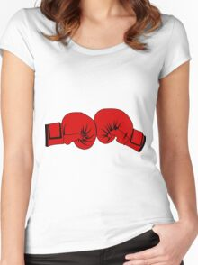 Boxing Gloves Women's Fitted Scoop T-Shirt