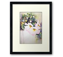Holly Hocks series 4 Framed Print