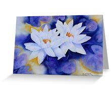 Water Lily's Greeting Card