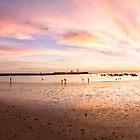270° Panoramic spectacular Golden Sunset in La Caleta, Cadiz, Spain by Martin Stringer