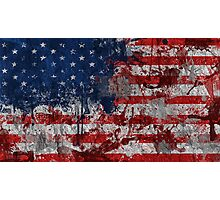 USA grunge Photographic Print