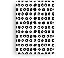 Black Paint Circles Pattern Canvas Print
