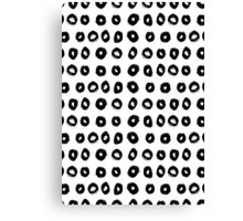 Black Paint Circles Pattern Canvas Print