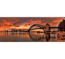 Kirribilli Sunrise - Panorama Photographic Print