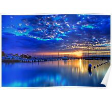 Valentine Sunset Blue Poster