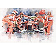 Ferrari F 2012 Fernando Alonso Pit Stop Photographic Print