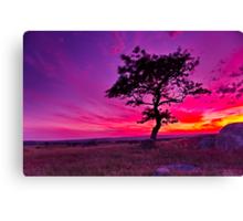"""Sunday's Sundown At The Rocks"" Canvas Print"