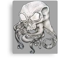 Alien Octopus Brain Parasite Canvas Print