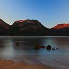 sunrise, the hazards range. freycinet coast, tasmania by tim buckley | bodhiimages
